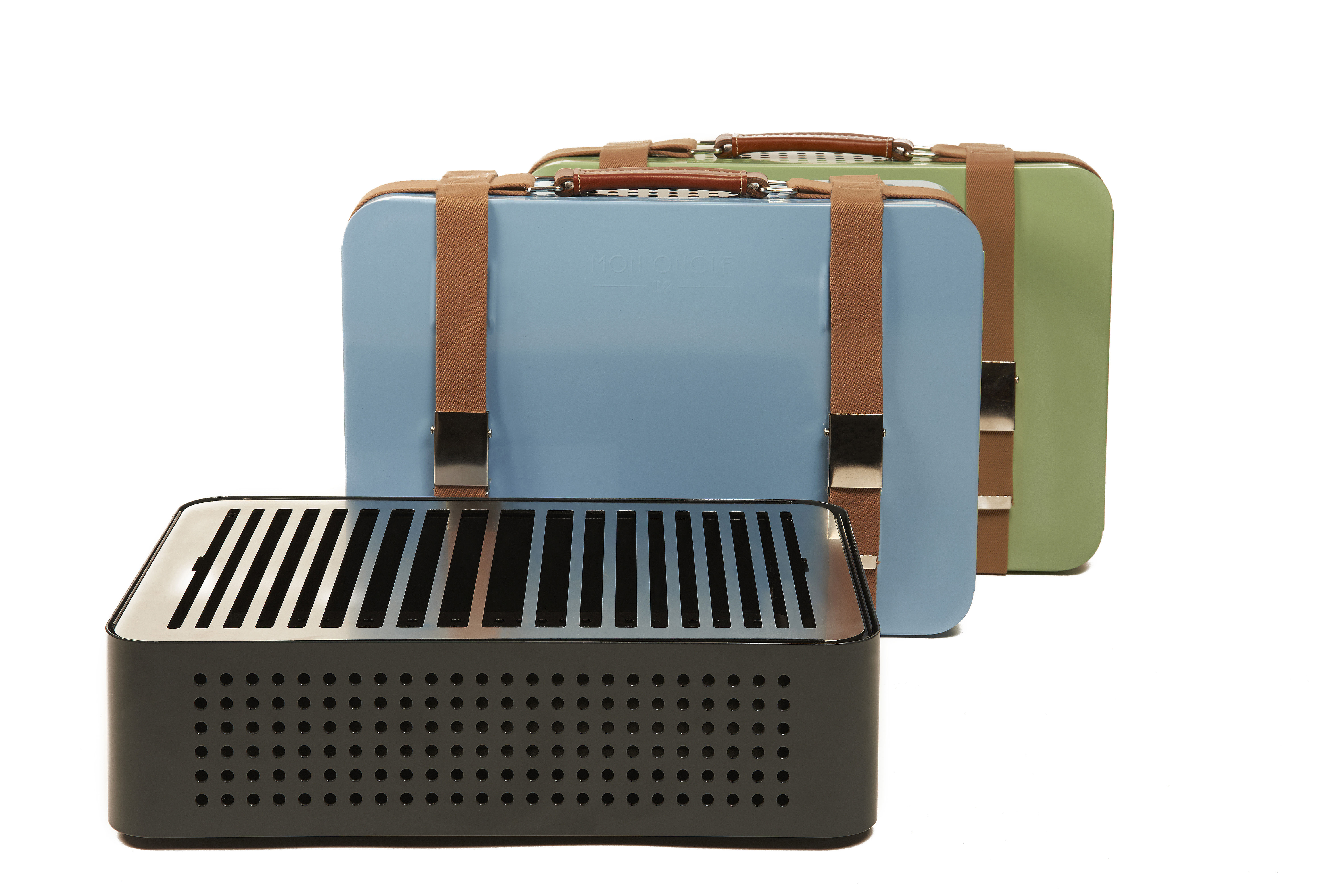 Mon oncle movable charcoal barbecue blue by rs barcelona - Porta cd design ...