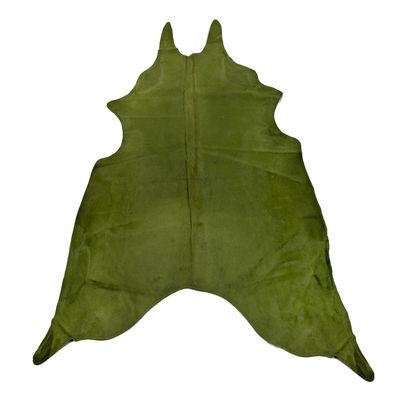 Tapis Peau de vache véritable / 4 m2 - Pols Potten vert forêt en cuir