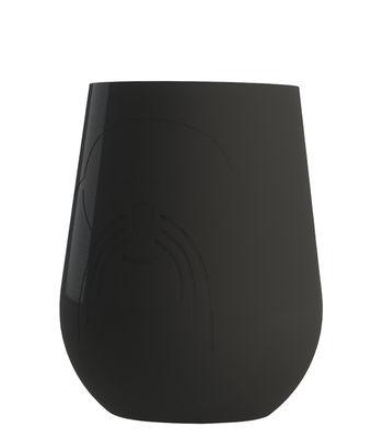 Verre / Porte-gobelet magnétique - Pour collection Modul´Air - Pigro Felice noir en matière plastique