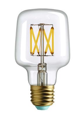 Ampoule LED filaments E27 Wilbur / 4.5W (33W) - 365 Lumen - Plumen transparent en verre