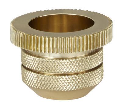 Foto Portacandela Cog - cilindrico di Tom Dixon - Oro - Metallo