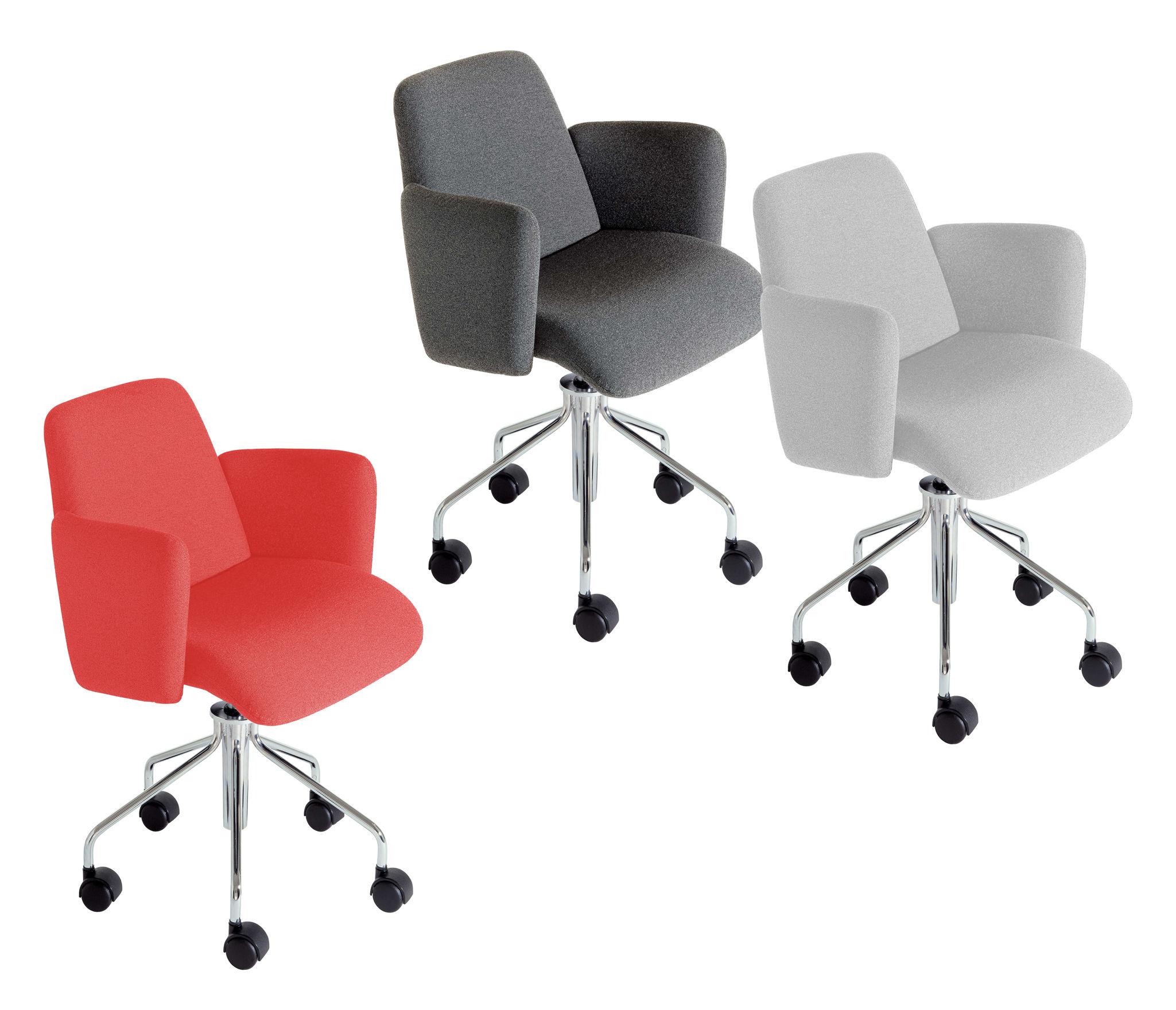 Scopri poltrona a rotelle moorea grigio chiaro di kartell - Rotelle per sedie ufficio ...