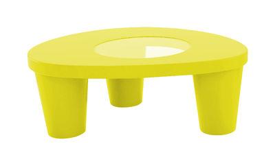 Tavolino basso Low Lita - Slide - Giallo - Vetro