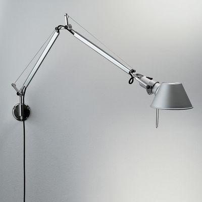 Tolomeo mini Wandleuchte LED - mit Schwenkarm - Artemide - Metall glänzend,Mattmetall