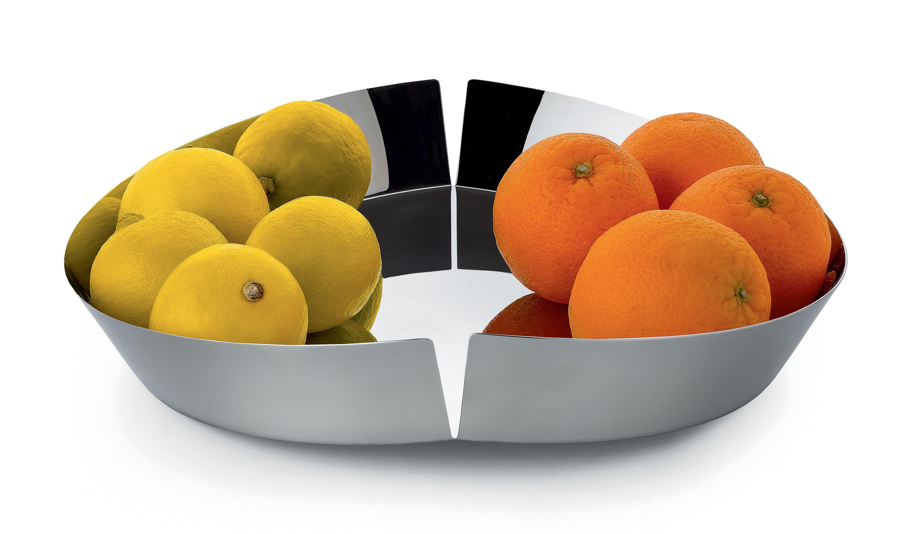 Broken bowl fruit basket 31 cm shiny steel by alessi - Alessi fruit basket ...