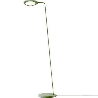 Luminaire - Lampadaires - Lampadaire Leaf / LED - Métal - Muuto - Vert - Aluminium