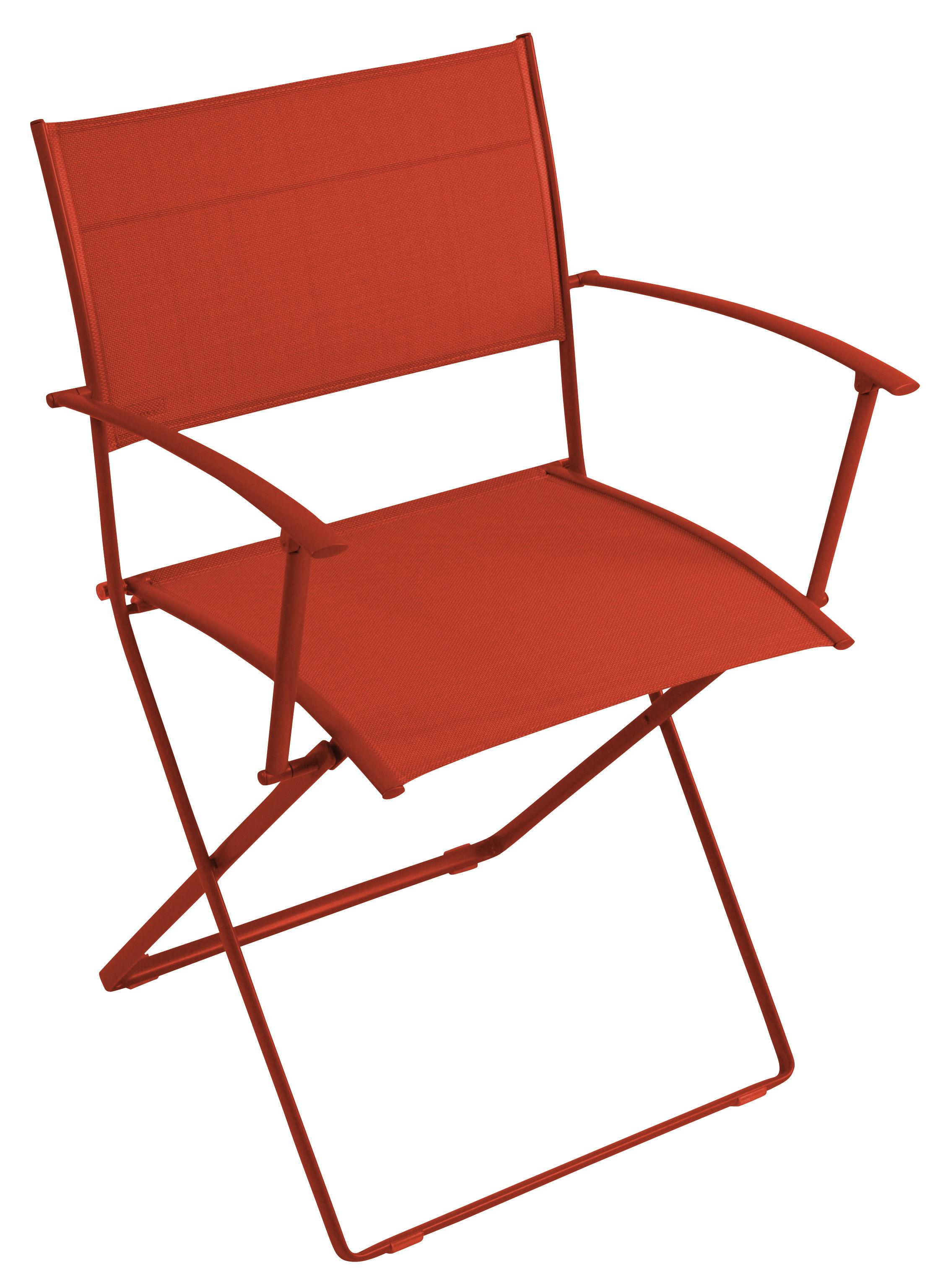 fauteuil pliant plein air toile paprika chin fermob. Black Bedroom Furniture Sets. Home Design Ideas
