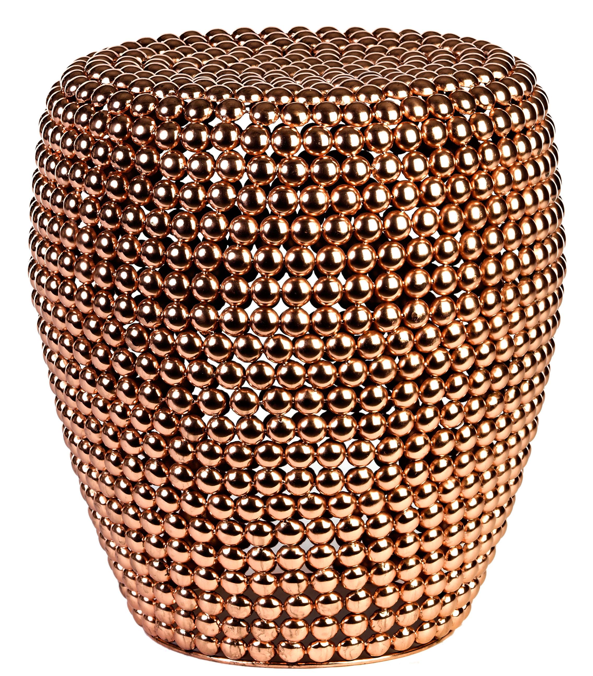 dot stool copper by pols potten. Black Bedroom Furniture Sets. Home Design Ideas