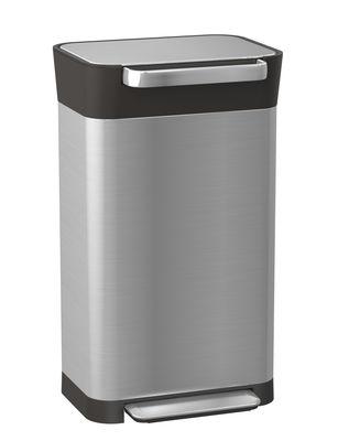 Poubelle à pédale Titan Compacteur 30 à 90 Litres Joseph Joseph orange,noir,acier en métal
