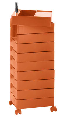 Image of 360° Rollcontainer 10 Schubladen - Magis - Orange glänzend