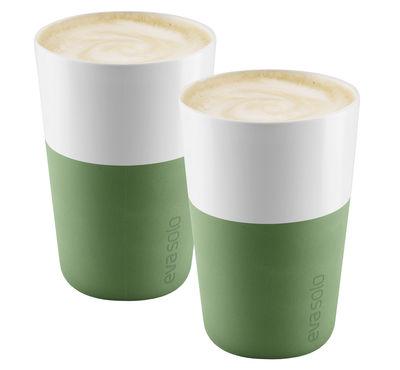 Mug Cafe Latte / Set de 2 - 360 ml - Eva Solo blanc,vert botanique en céramique