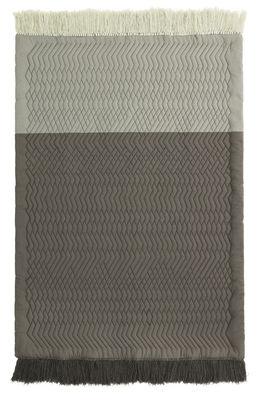 Tapis Trace / Matelassé - 140 x 195 cm - Normann Copenhagen gris clair,gris foncé en tissu