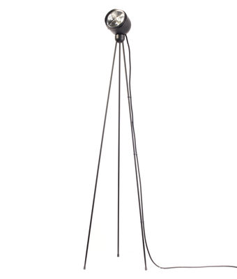 Lighting - Floor lamps - Tripod180° Touch Floor lamp - / halogen by Azimut Industries - Black / black cord - Lacquered metal