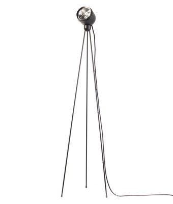 Luminaire - Lampadaires - Lampadaire Tripod180° Touch / halogène - Azimut Industries - Noir / Câble tissu noir - Métal laqué