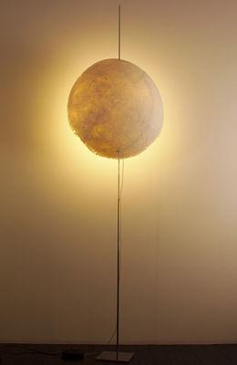 Luminaire - Lampadaires - Lampadaire PostKrisi 003 / H 190 cm - Catellani & Smith - Naturel - Acier inoxydable, Fibre de verre, Métal nickelé