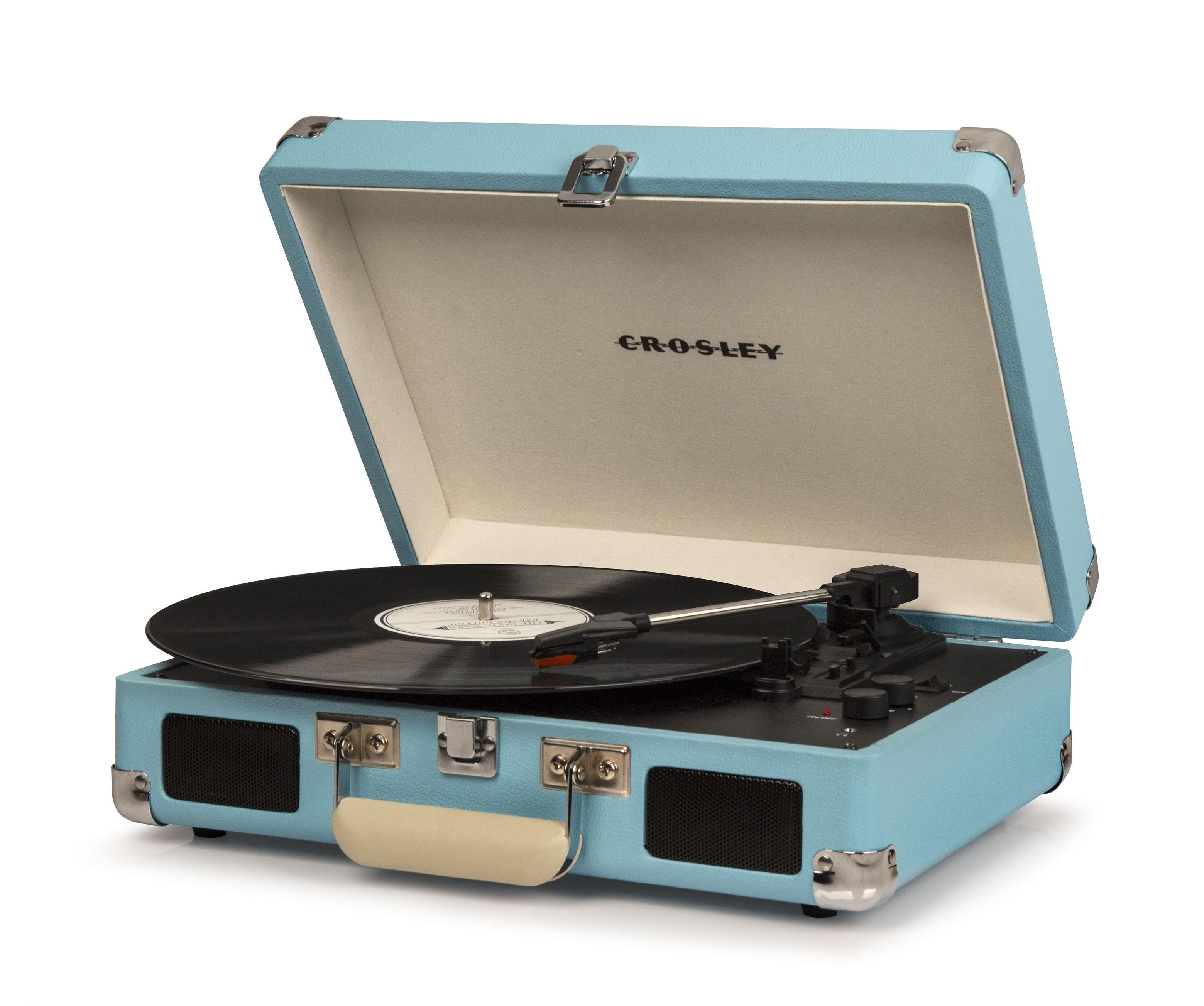 platine vinyle cruiser deluxe portable bluetooth enceintes st r o int gr es turquoise. Black Bedroom Furniture Sets. Home Design Ideas