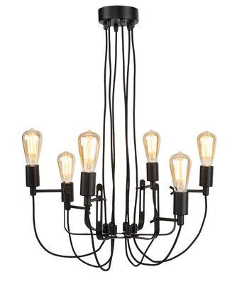 Luminaire - Suspensions - Suspension Seattle / Lustre - Métal Ø 55 cm - It's about Romi - Noir - Acier peint
