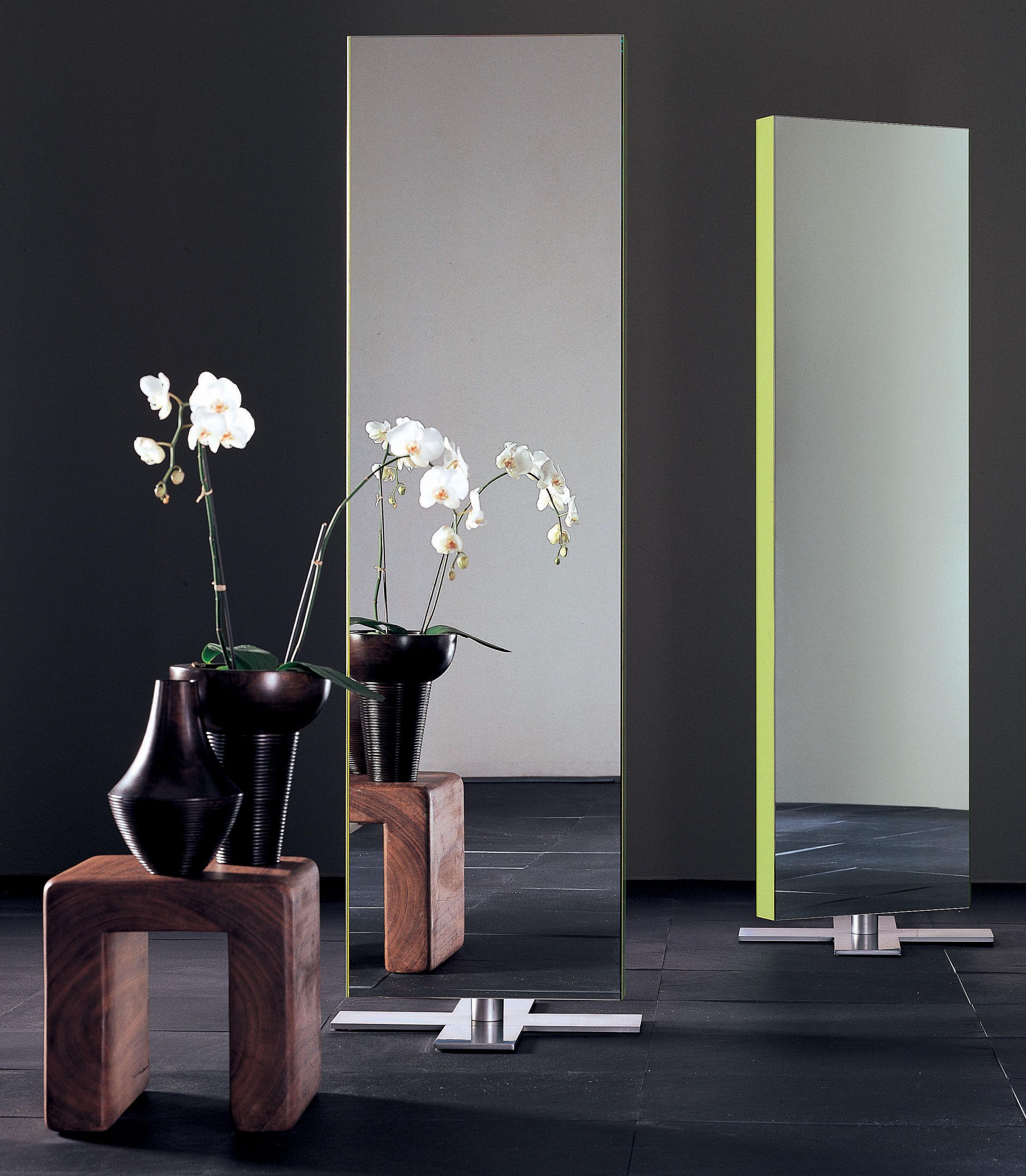 Miroir giano poser au sol l 50 x h 180 cm laqu - Grand miroir a poser au sol ...