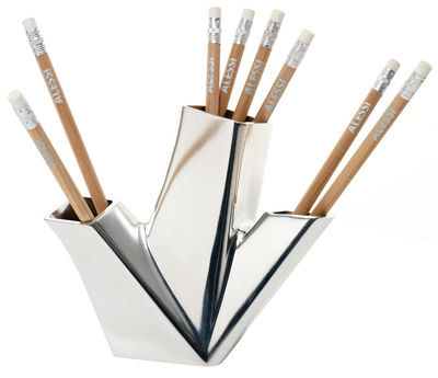 Dekoration - Büro - Trina Stifthalter - Alessi - Aluminium - Gussaluminium