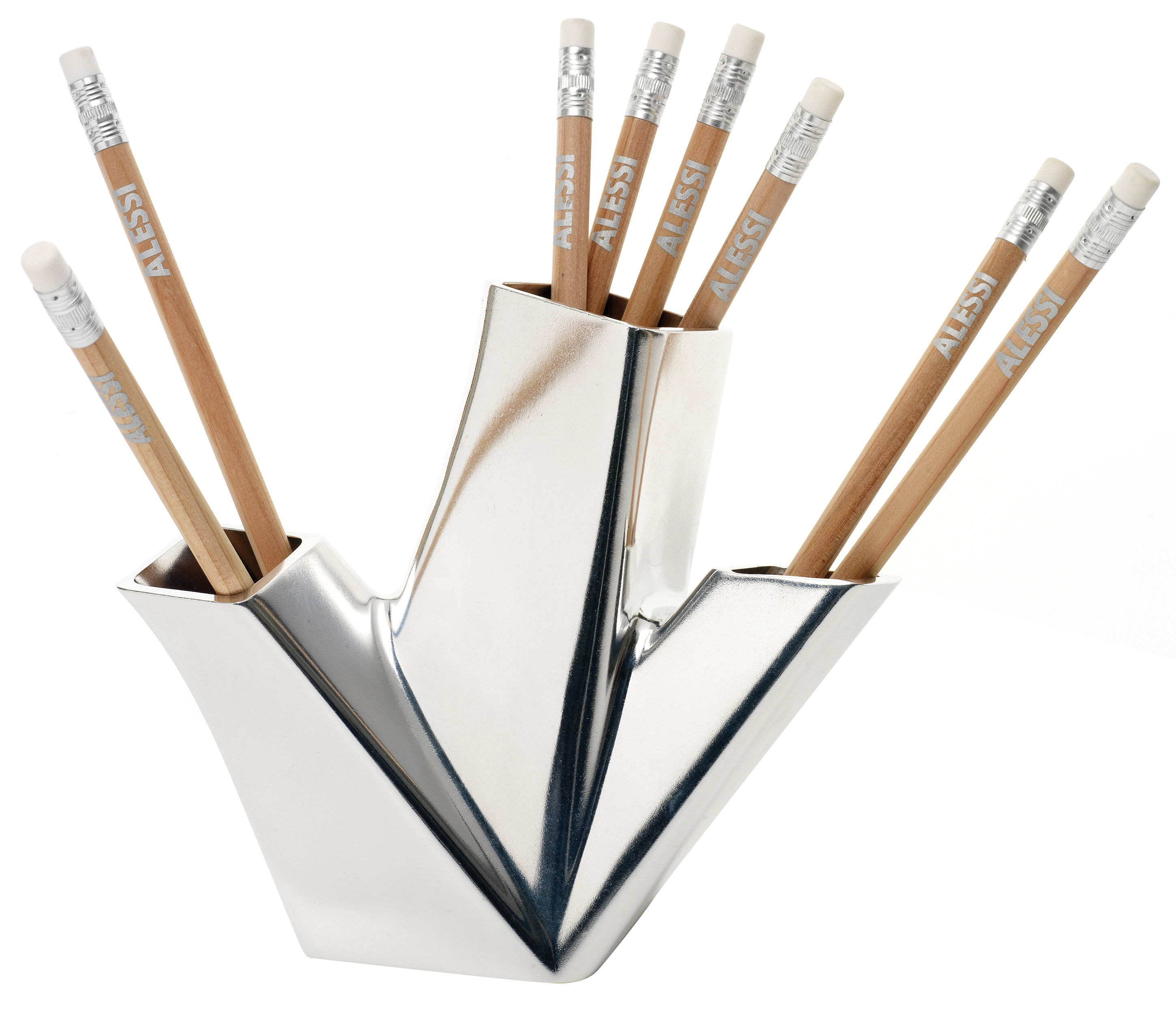 Trina pencil holder aluminium by alessi for Accessoires decoration
