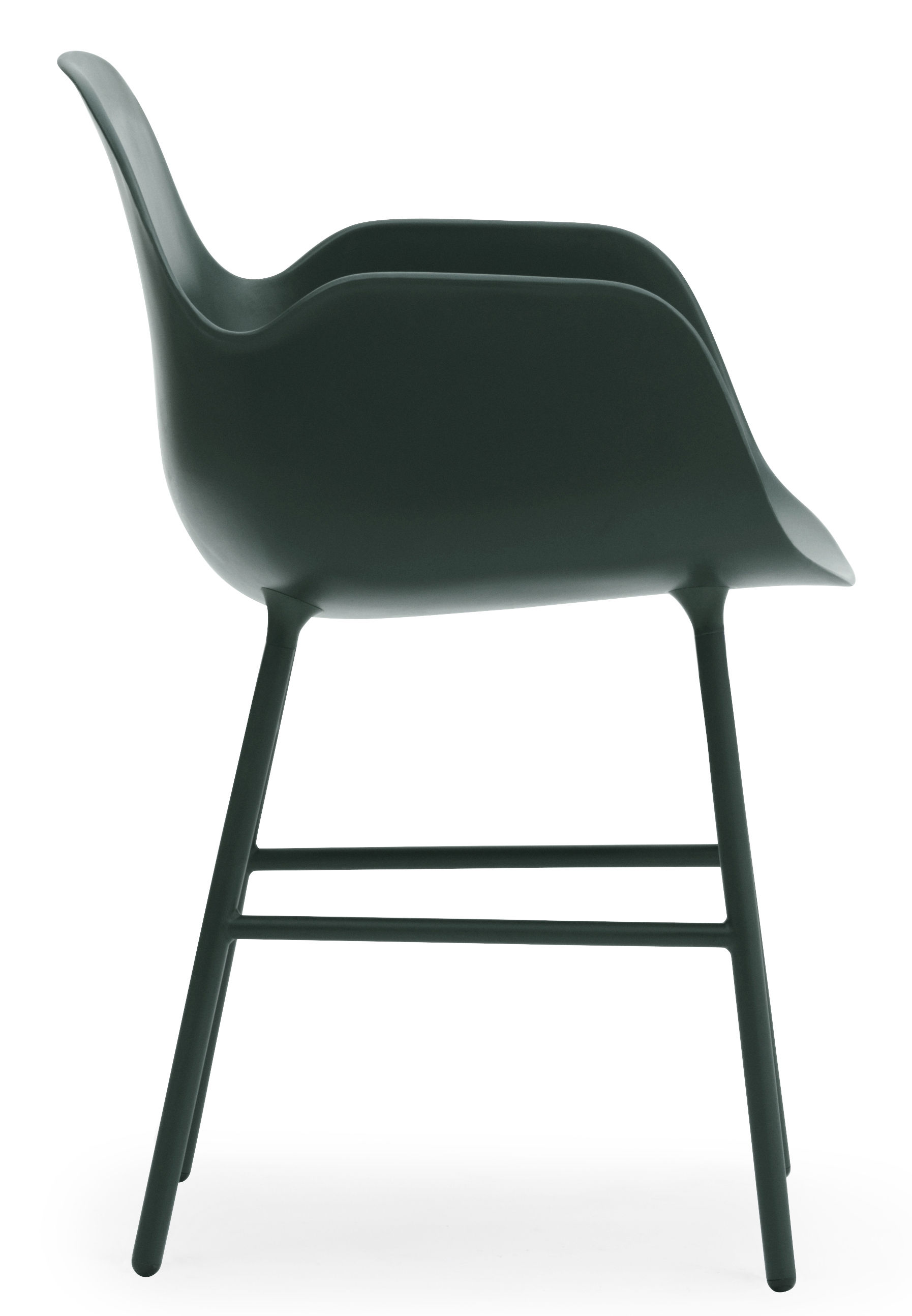 fauteuil form pied m tal vert normann copenhagen. Black Bedroom Furniture Sets. Home Design Ideas