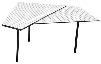 Mobilier - Tables basses - Table basse Rain Small - Gallery S.Bensimon - Small / Blanc & pieds noirs - Acier peint, Stratifié compact