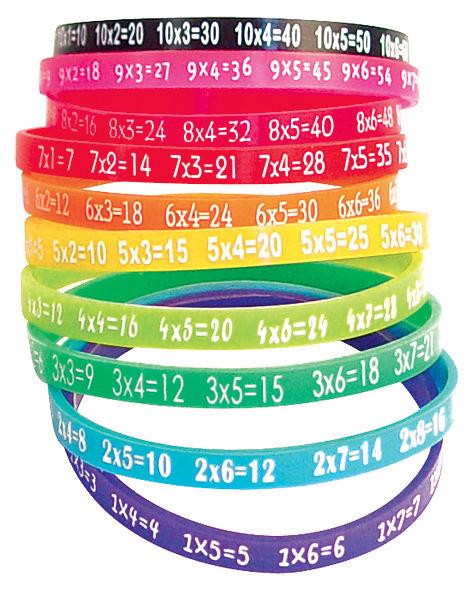 table de multiplication bracelet set of 10 multicolor by. Black Bedroom Furniture Sets. Home Design Ideas