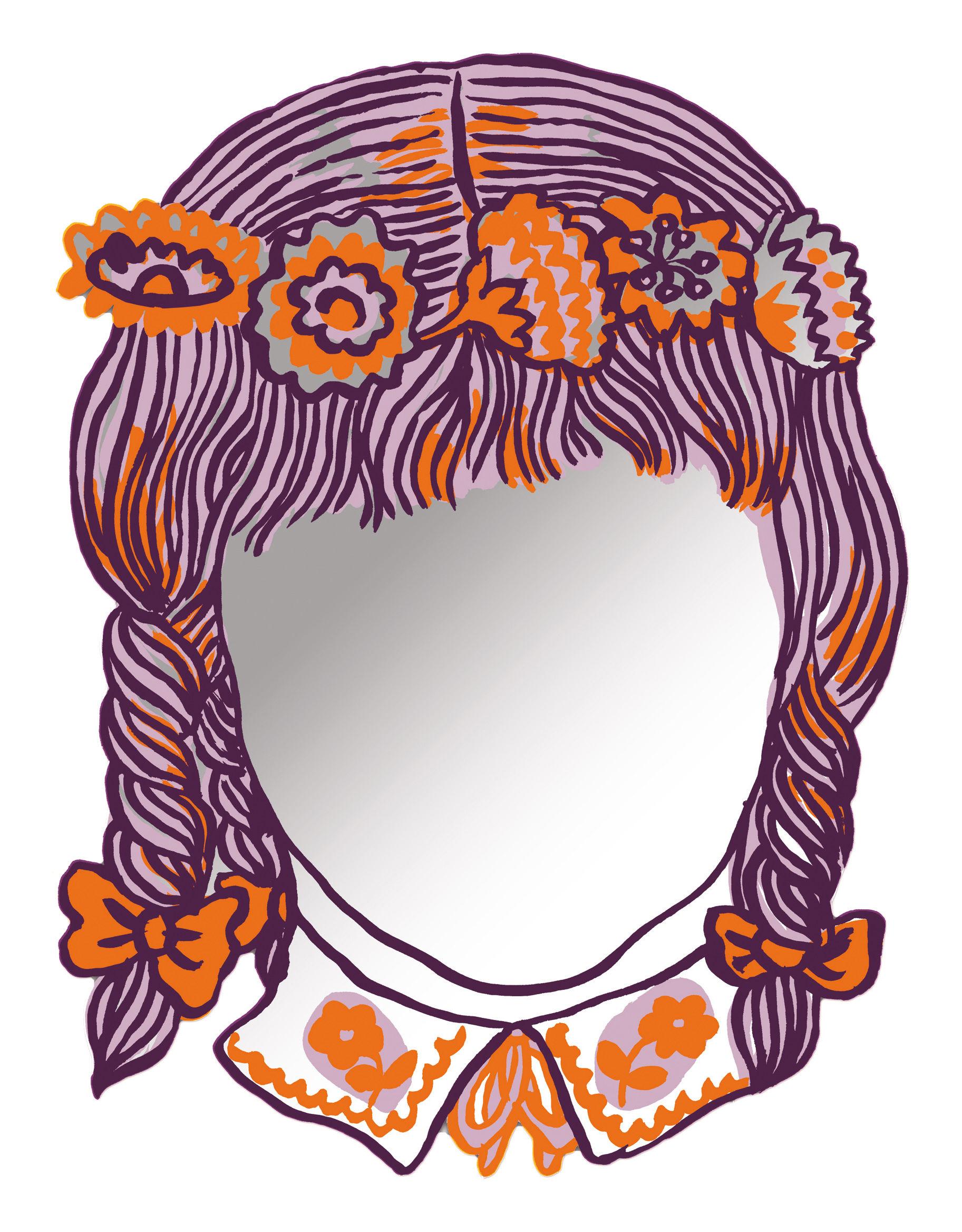 Miroir autocollant fille 42 x 31 cm fille domestic for Miroir autocollant
