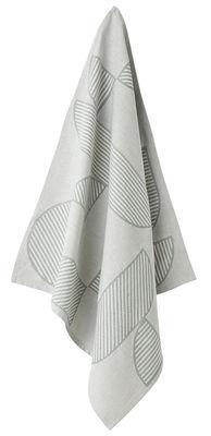 Torchon Figura / Set de 2 - AYTM gris clair,menthe pâle en tissu