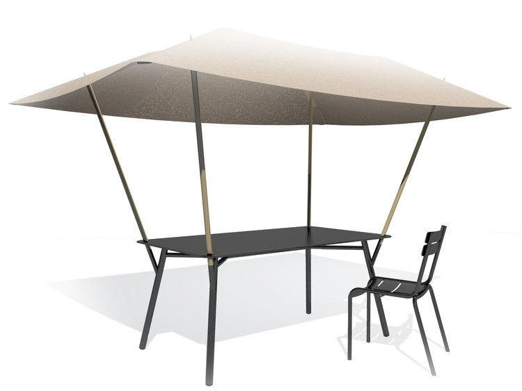 table de jardin tablabri toile pare soleil noir toile beige fermob. Black Bedroom Furniture Sets. Home Design Ideas