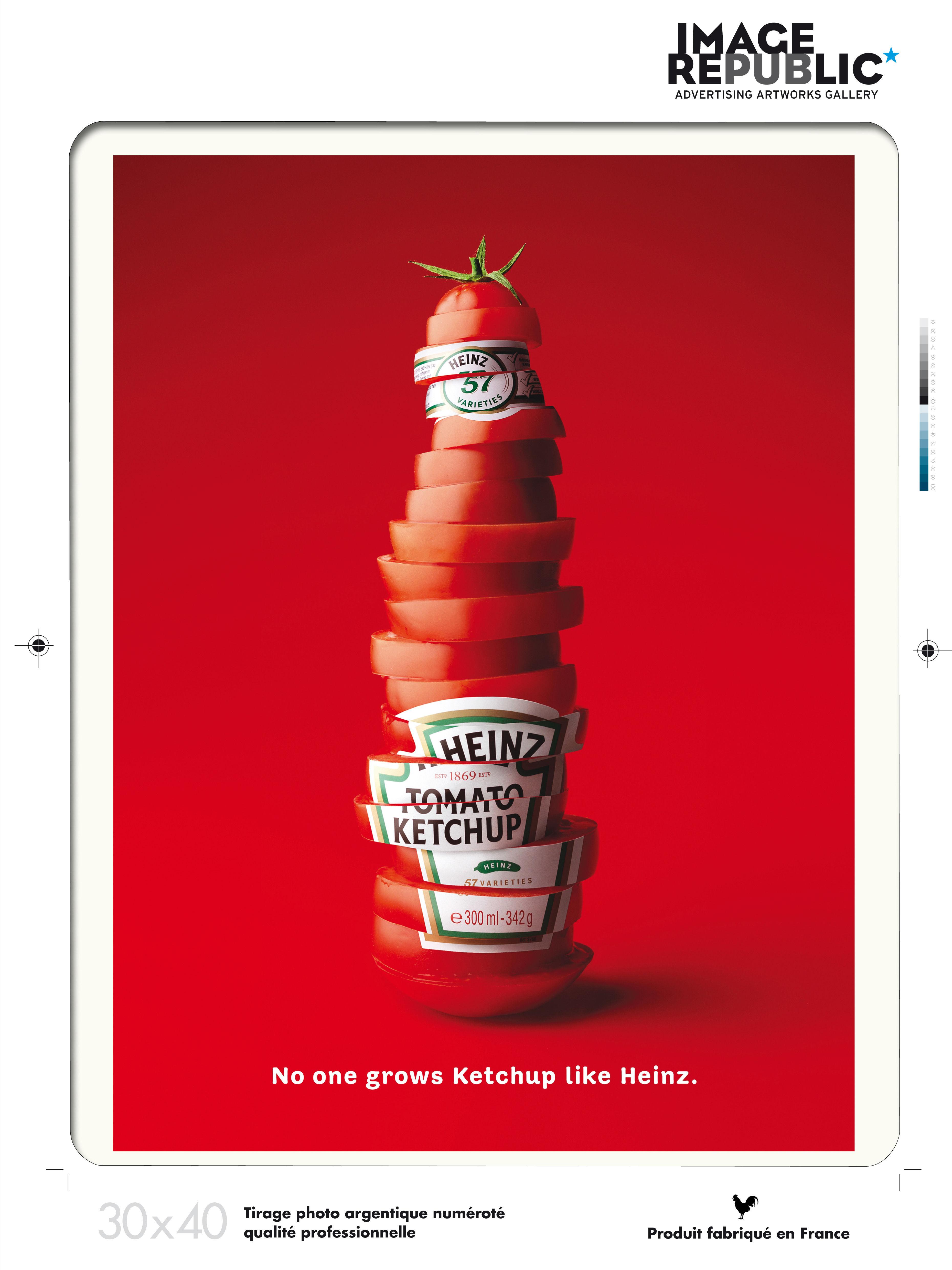 Affiche Heinz Sliced Bottle / 30 x 40 cm Heinz - Image Republic