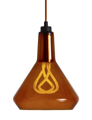 Suspension Drop Top A en verre / avec ampoule Plumen n°001 - Plumen cuivre,ambre en verre