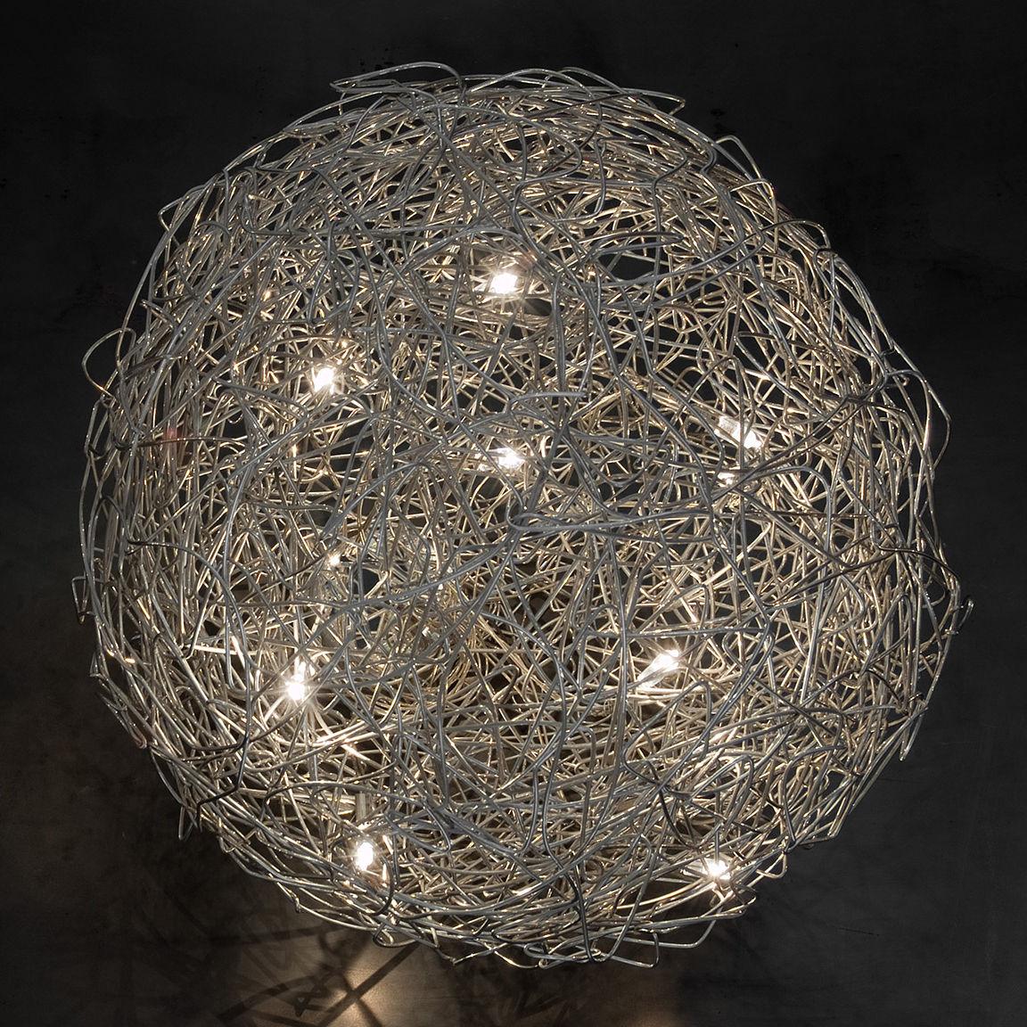 Fil de fer outdoor lamp aluminium by catellani smith for Luminaire outdoor design
