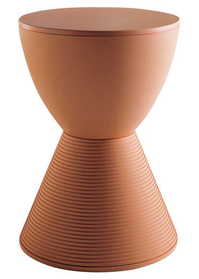 Mobilier - Tabourets bas - Tabouret Prince AHA / Plastique - Kartell - Orange clair - Polypropylène