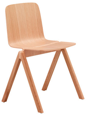 Copenhague stacking chair wood natural oak by hay for Chaise empilable design
