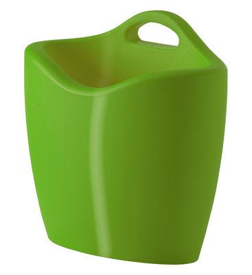 Porte-revues Mag version laquée - Slide laqué vert en matière plastique