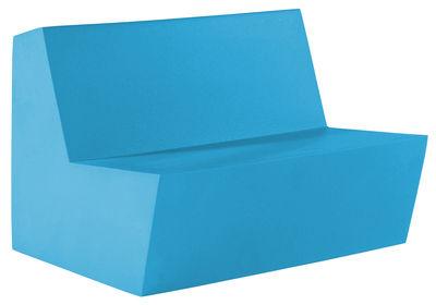 Divano bimbi Minus Primary Duo - 2 posti di Quinze & Milan - Azzurro - Materiale plastico