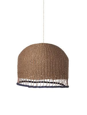 Luminaire - Suspensions - Abat-jour Braided Low /  Ø 37 x H 29 cm - Papier tresssé main - Ferm Living - Abat-jour / Rose - Papier tressé