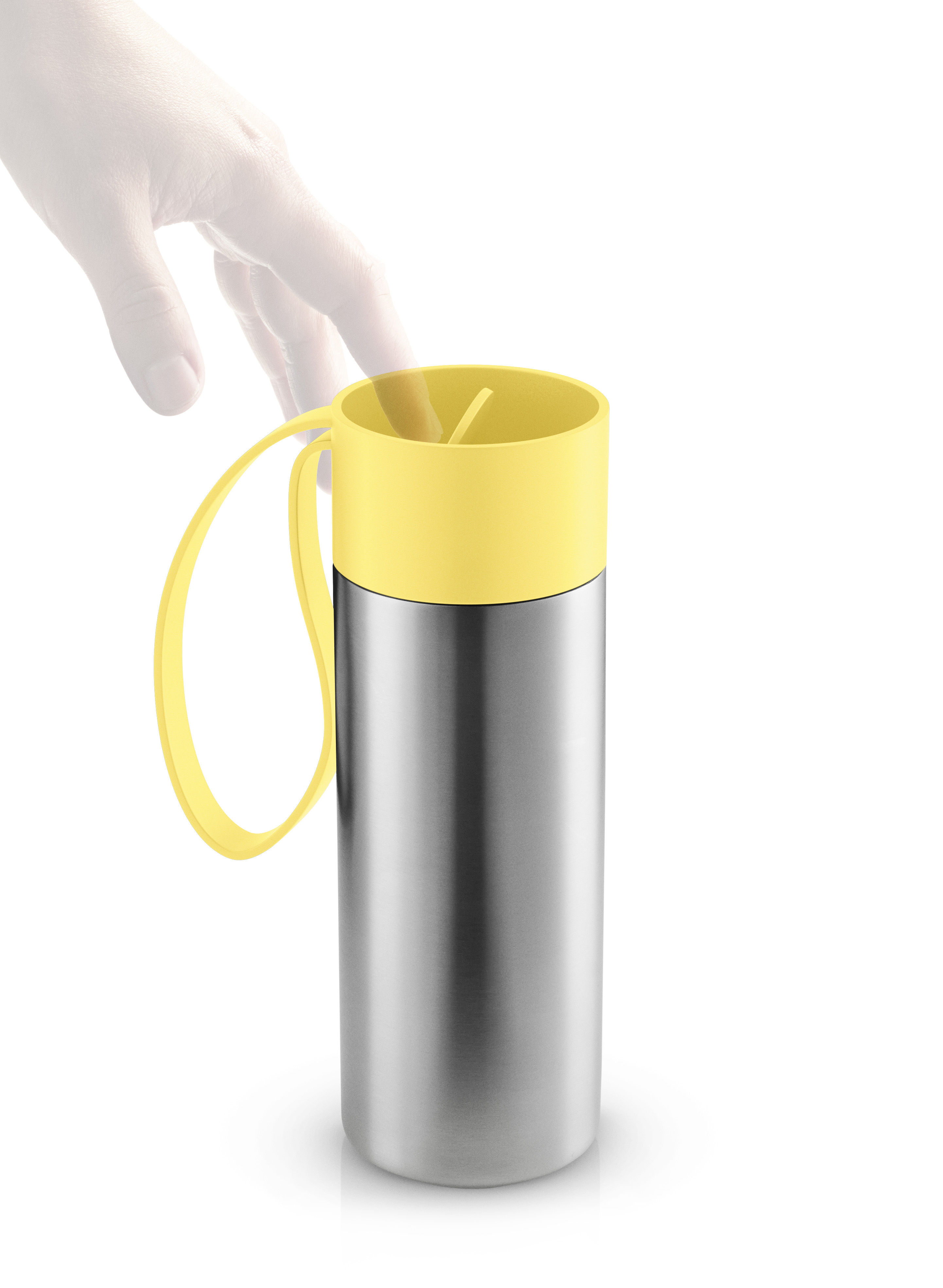 mug isotherme to go cup avec couvercle 0 35 l acier bross jaune limonade eva solo. Black Bedroom Furniture Sets. Home Design Ideas