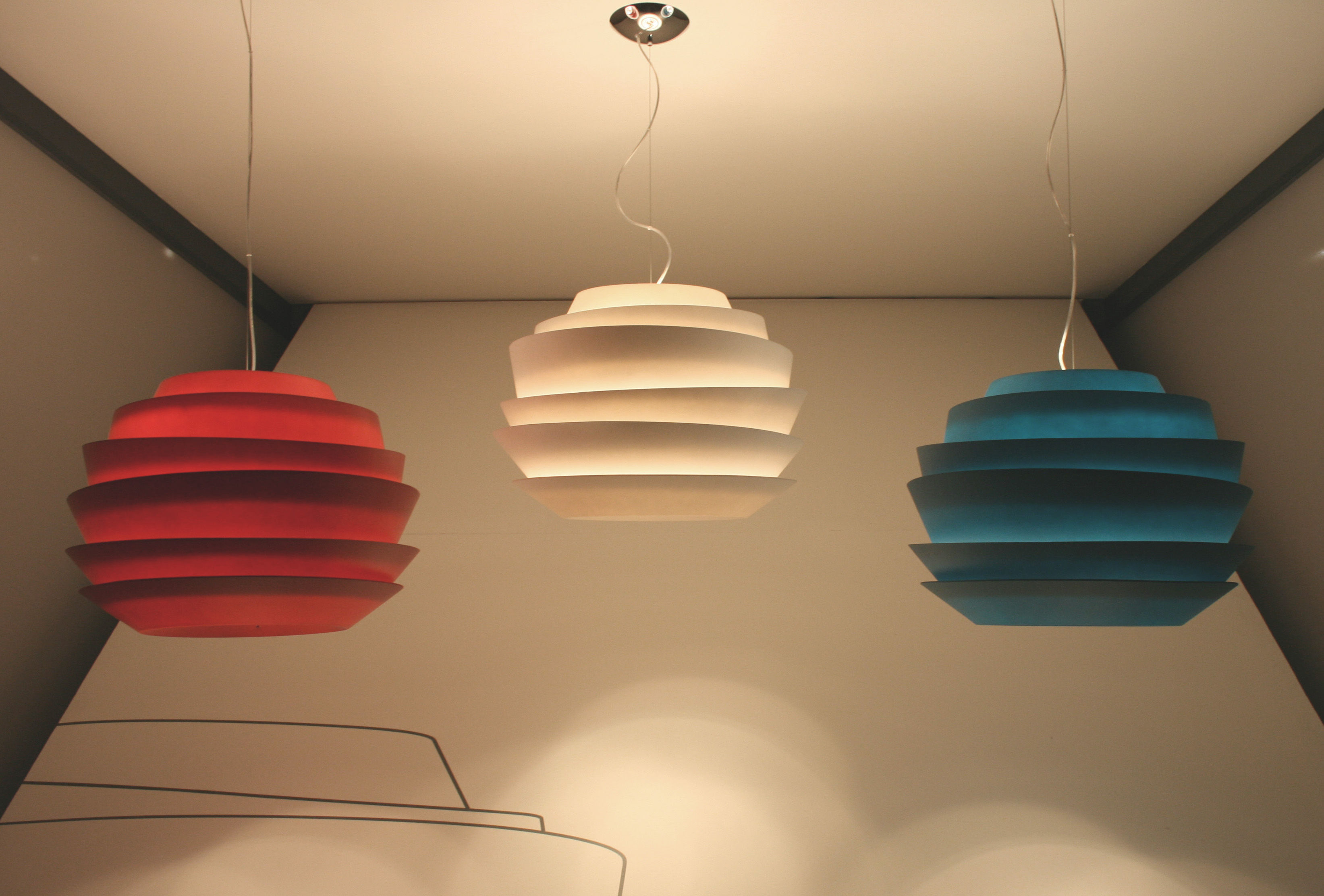 Le Soleil Pendant Red By Foscarini