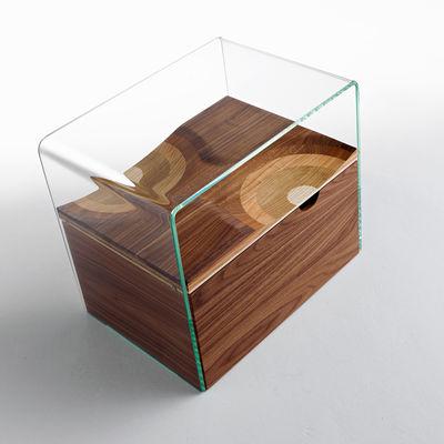 Table de chevet bifronte transparent horm - Table de nuit contemporaine ...