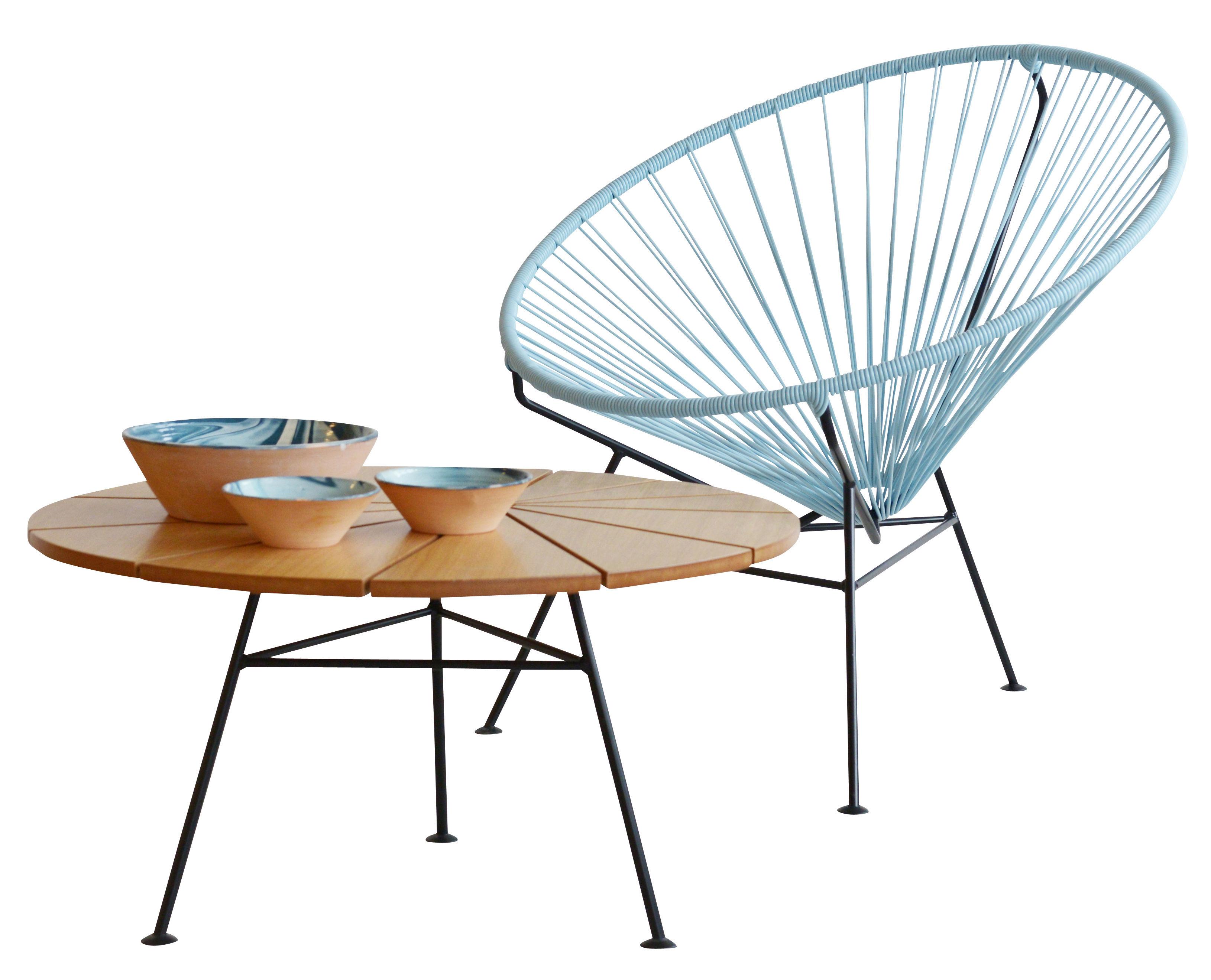 fauteuil bas condesa bleu gris ok design pour sentou edition. Black Bedroom Furniture Sets. Home Design Ideas