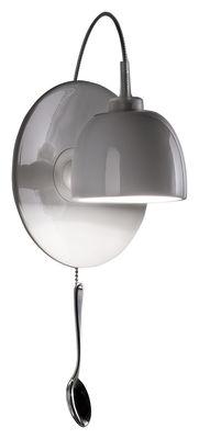 Illuminazione - Lampade da parete - Applique con presa Light au Lait - Lampada di Ingo Maurer - Bianco porcellana - Acciaio inossidabile, Porcellana