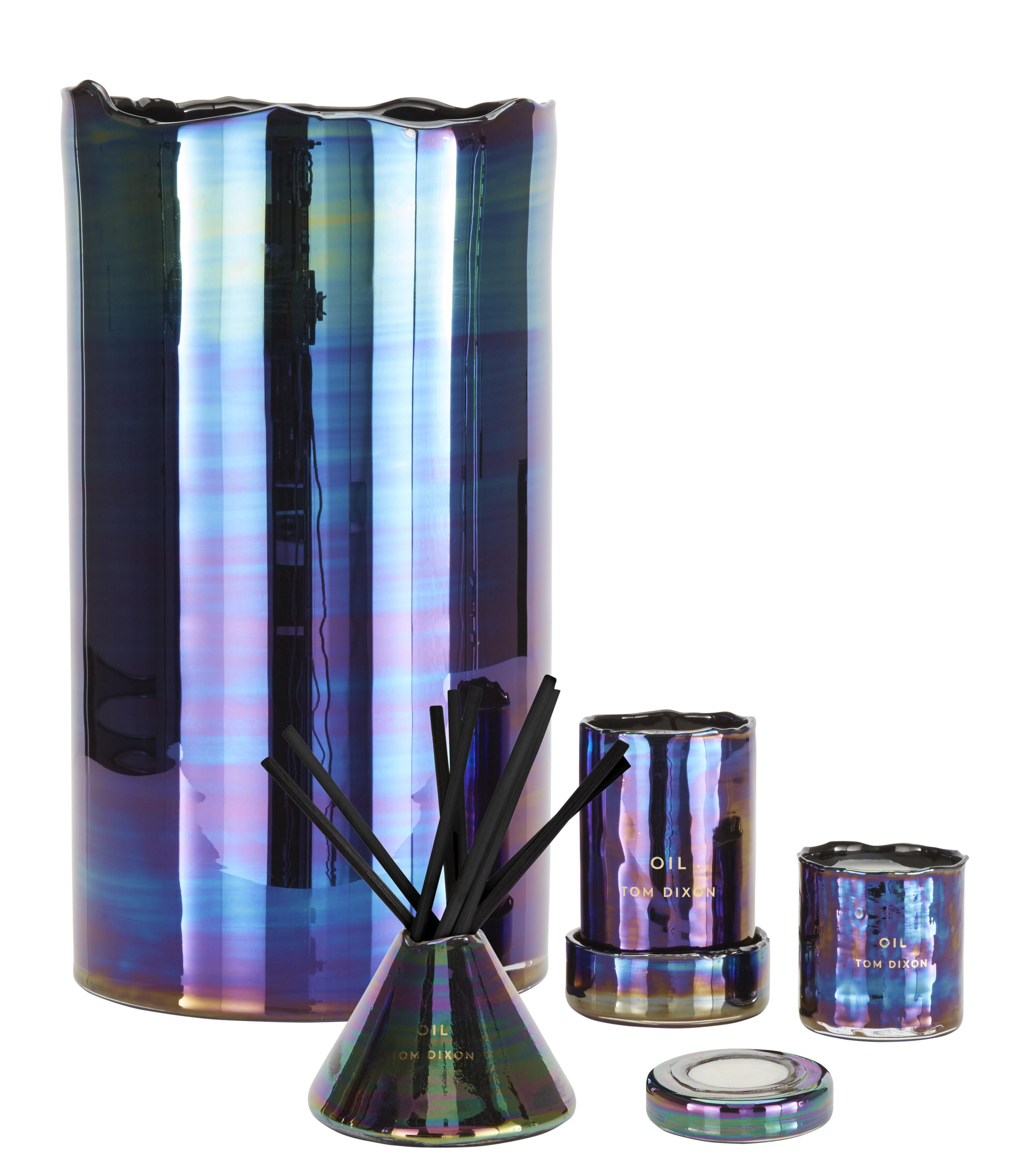 diffuseur de parfum oil avec b tonnets bleu iridescent tom dixon. Black Bedroom Furniture Sets. Home Design Ideas