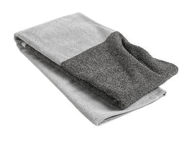 Drap de bain Compose / 140 x 70 cm - Hay gris clair,gris foncé en tissu