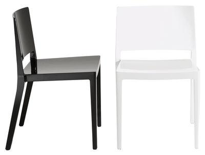 Arredo Ufficio Kartell : Scopri sedia lizz nero lucido di kartell made in design italia
