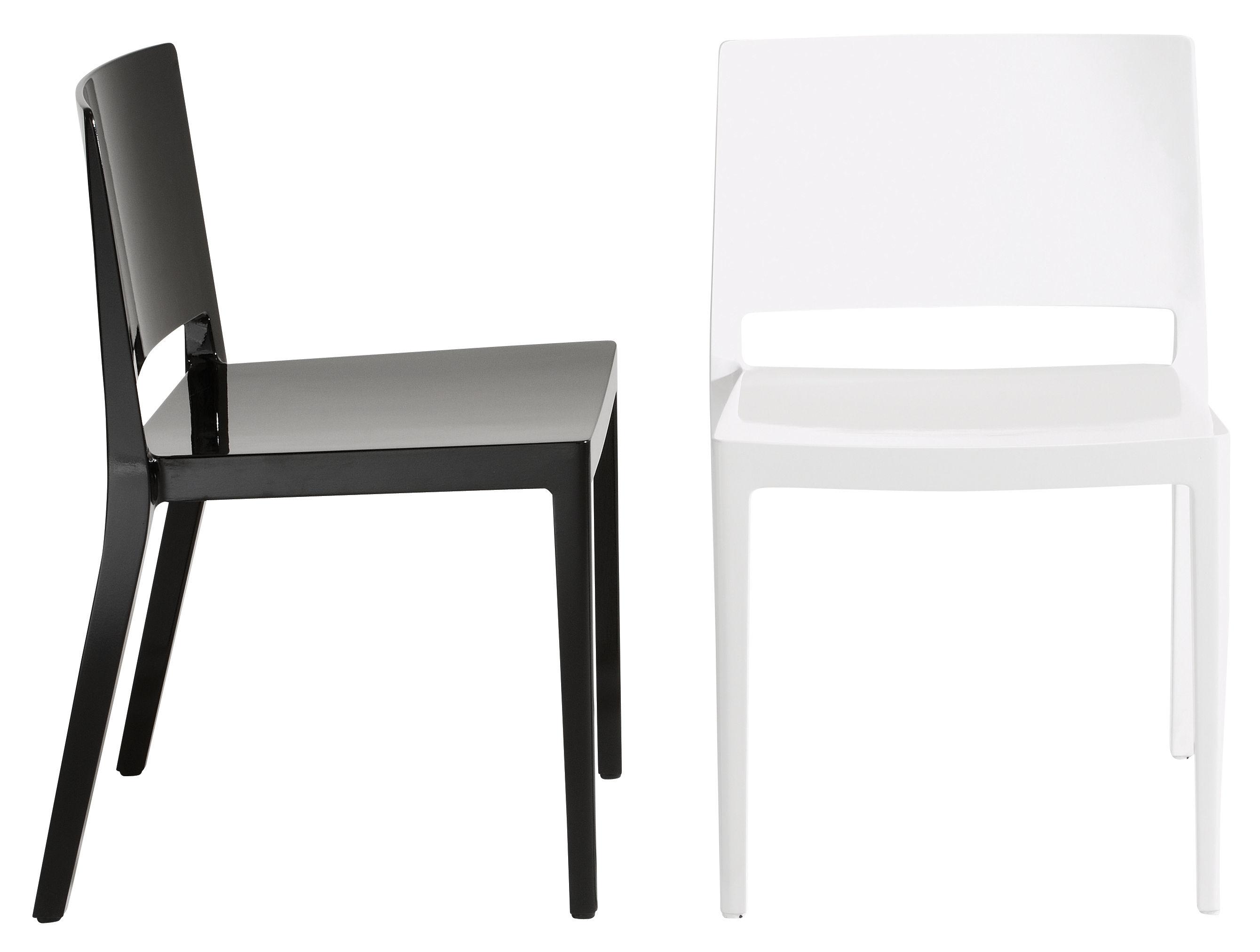 Scopri sedia lizz nero lucido di kartell made in design for Sedia design kartell