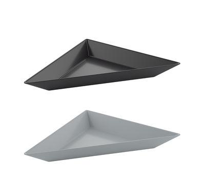 Coupelle Tangram / Set de 2 - 20 x 10 cm - Koziol gris clair,noir cosmos en matière plastique