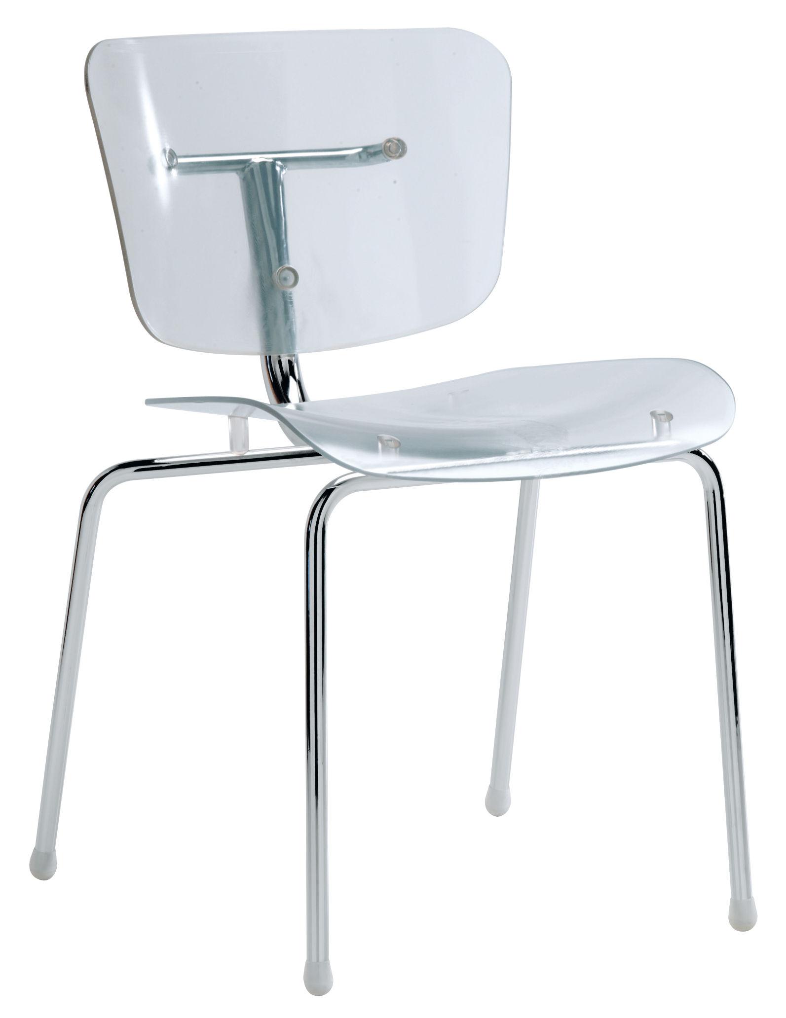 chaise slide transparente cristal segis made in design. Black Bedroom Furniture Sets. Home Design Ideas