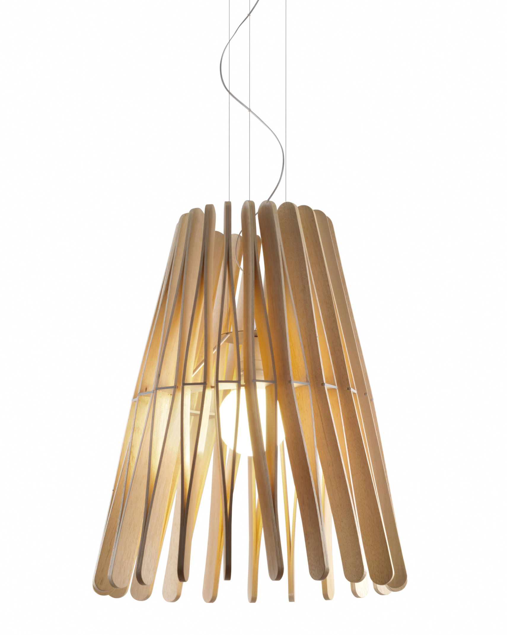 suspension stick 03 50 x h 64 cm bois clair mod le 3 fabbian made in design. Black Bedroom Furniture Sets. Home Design Ideas